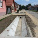 Csorna város területén csapadék elvezetési munkálatok