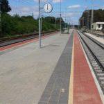 Pácsony állomás peron -és szivárgórendszer építési munkálatok