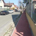 Budapest, IV. ker Telkes és Bucka utca járda felújítási munkálatok